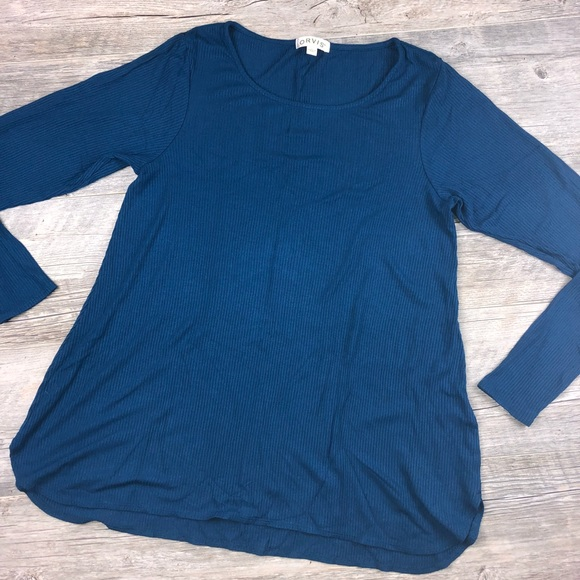 5721f384fc Orvis Blue Ribbed Long Sleeve Top